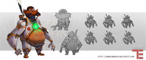 Dungeon Defenders Man In the Machine Concept Art by DanielAraya