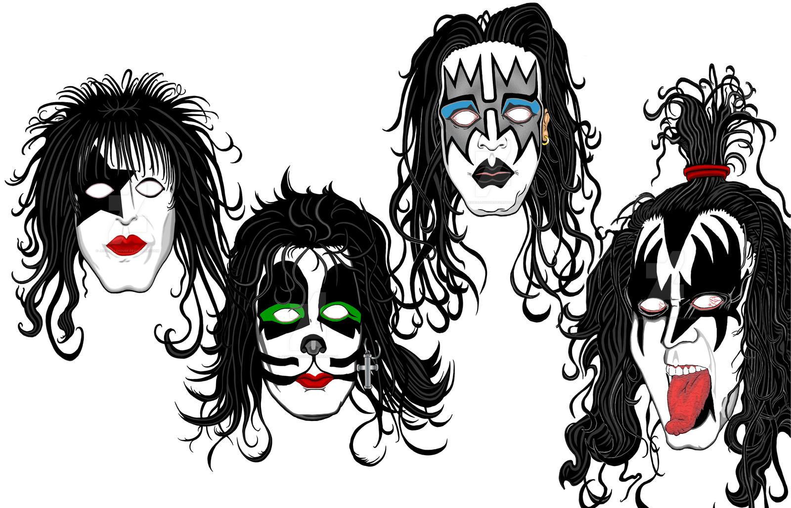 KISS Portraits Inks
