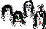 KISS Portraits Inks