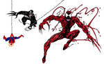 Carnage Venom and Spider-Man