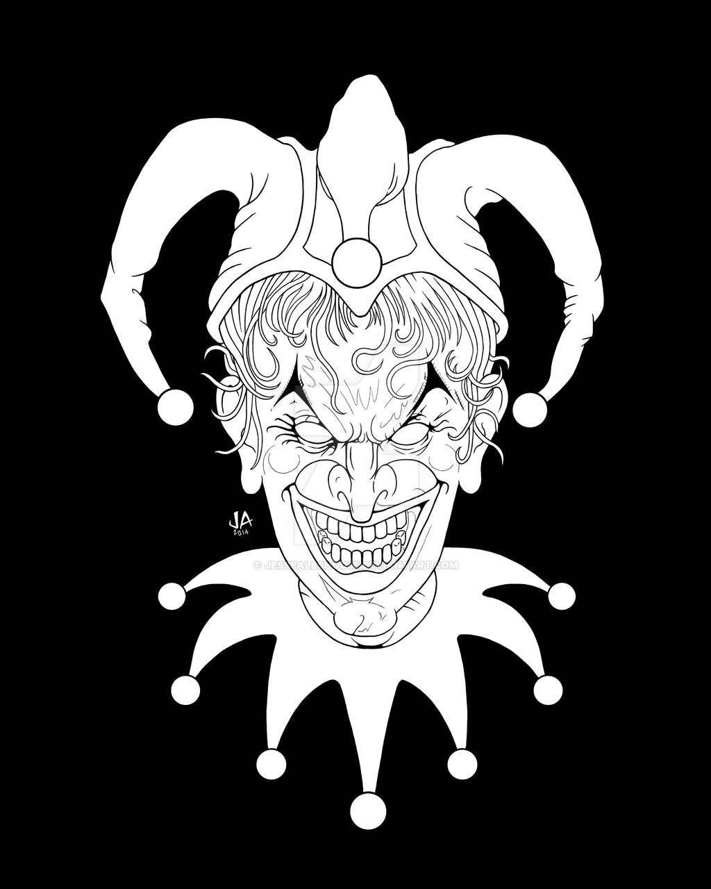 Joker Card Digital Ink