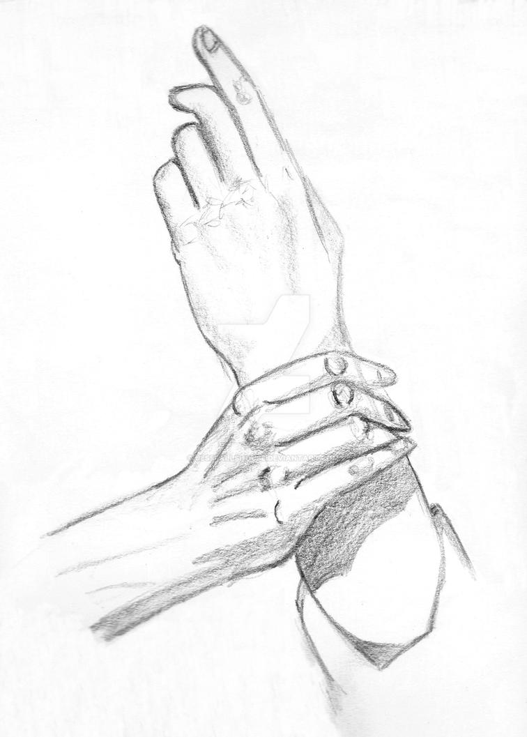 Hands Sketch by JesseAllshouse