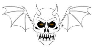 Demon Skull Logo Digital Ink