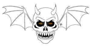 Demon Skull Logo Digital Ink