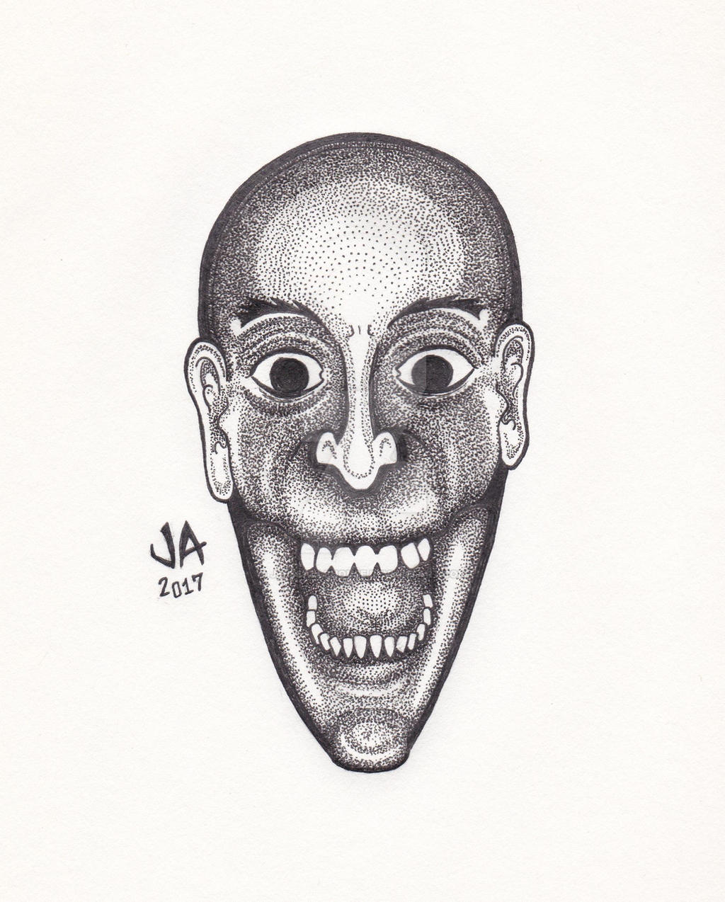 Laughing Man Pen  Ink