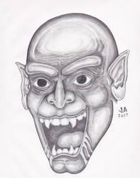 Nosferatu Pencil Sketch by JesseAllshouse