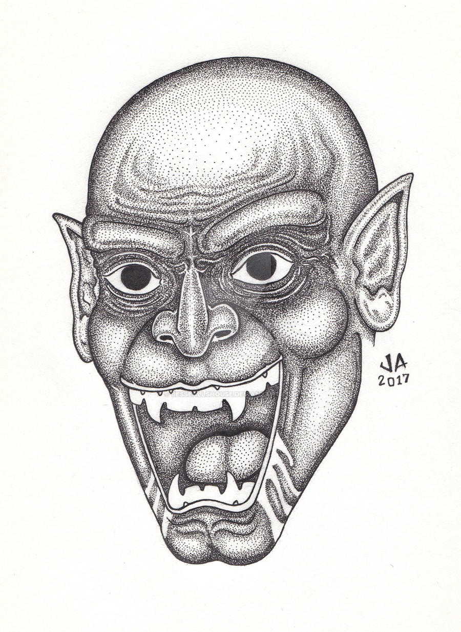 Nosferatu Pen and Ink by JesseAllshouse