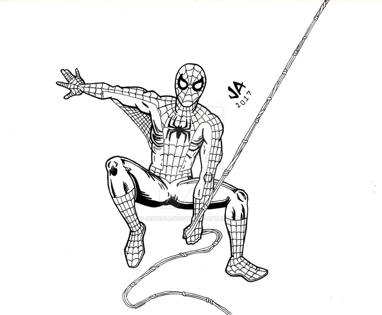 Spider-Man Pen and Ink by JesseAllshouse
