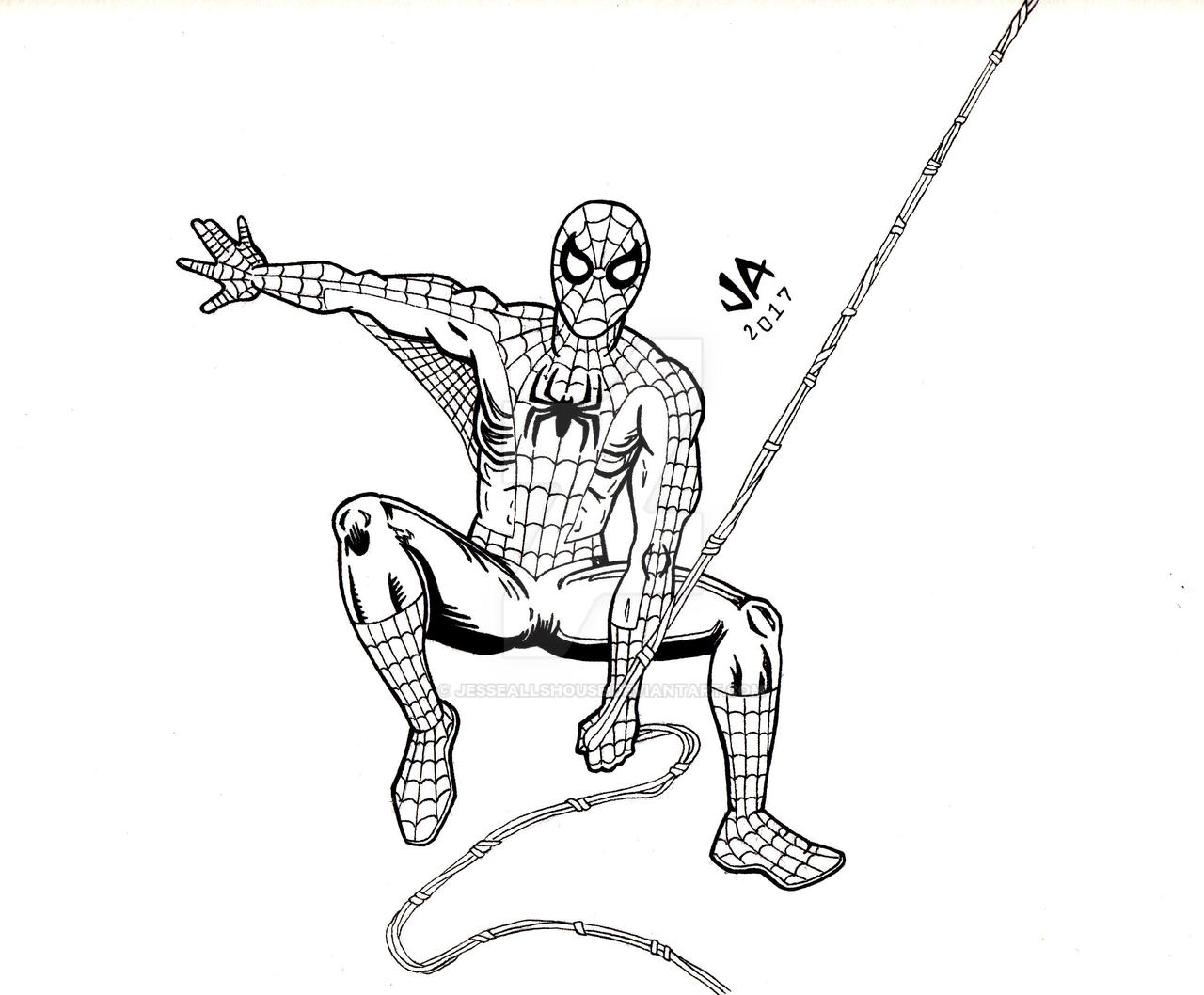 Spider-Man Pen and Ink