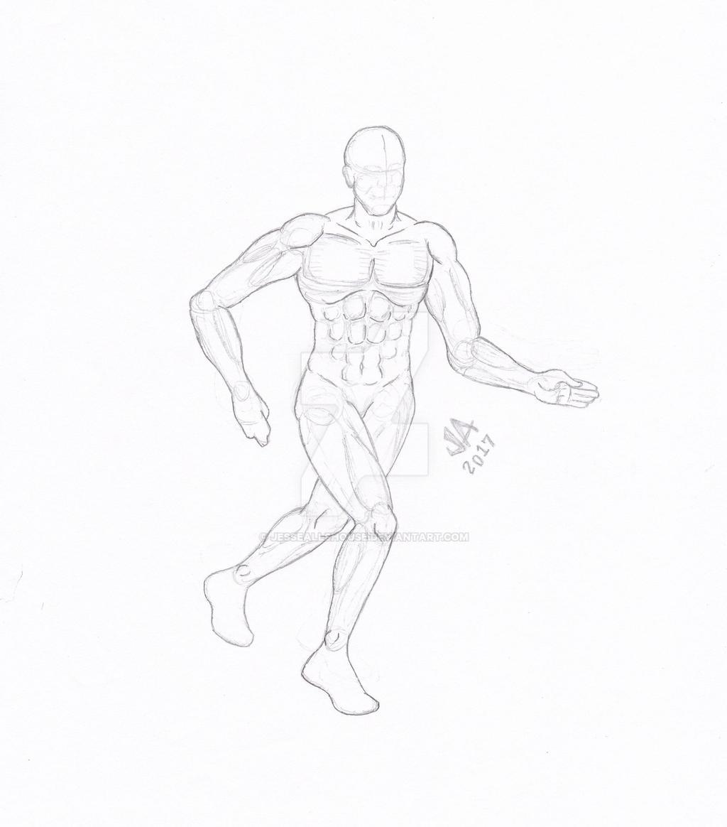 Running Pose Quick Sketch