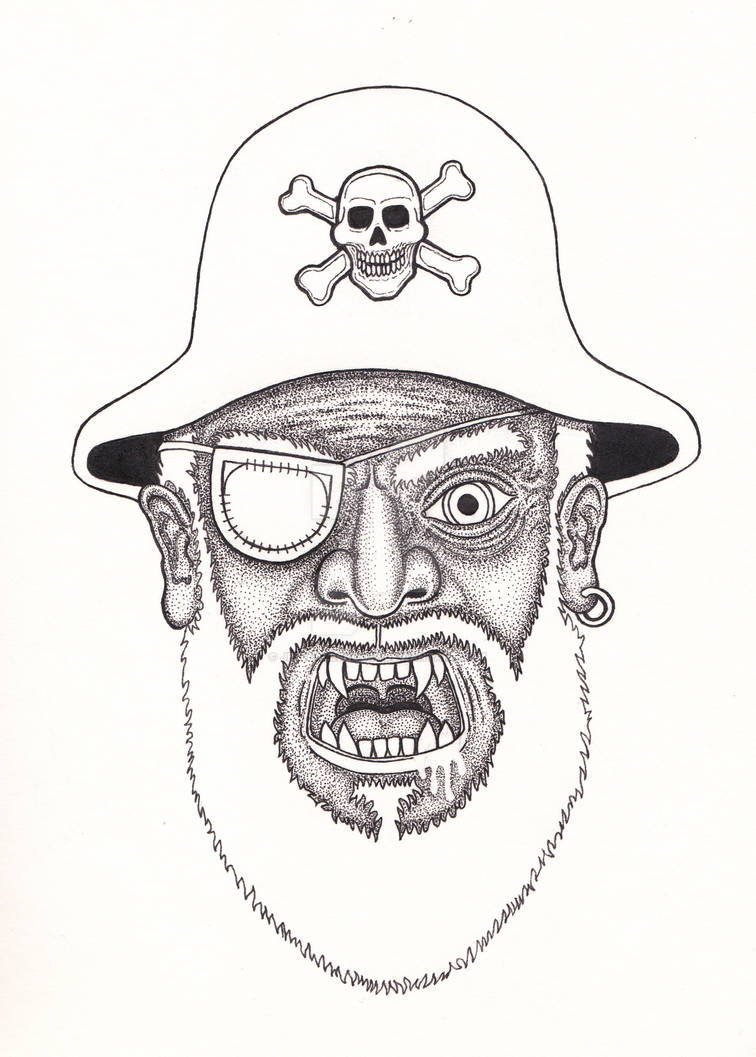 Vampire Pirate Pen and Ink