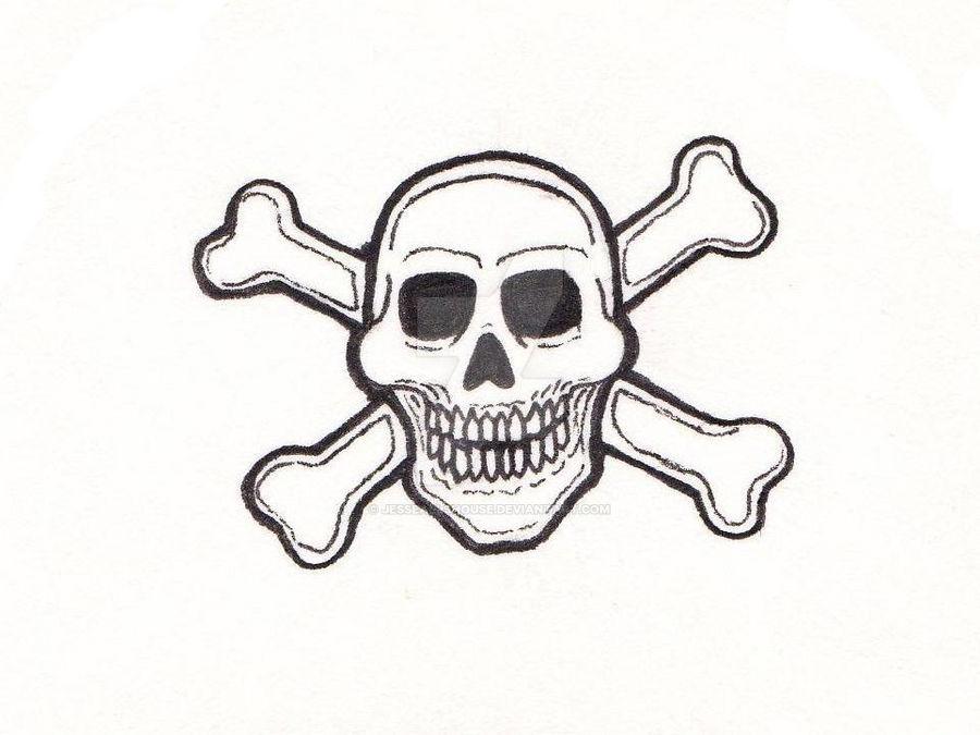 Skull and Crossbones Close Up