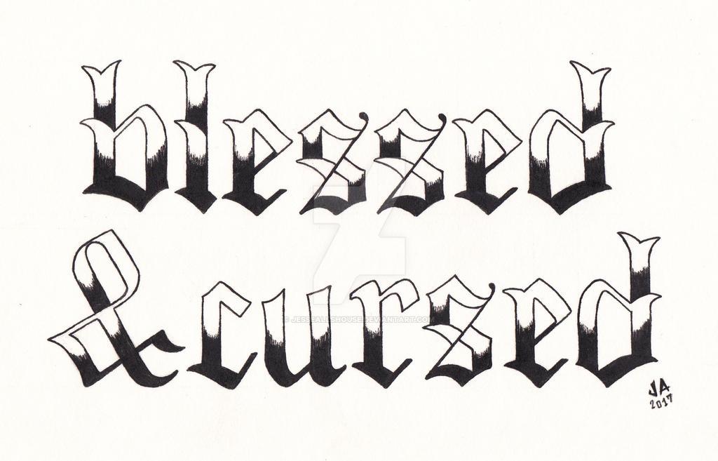 Blessed  x Cursed Tattoo Design