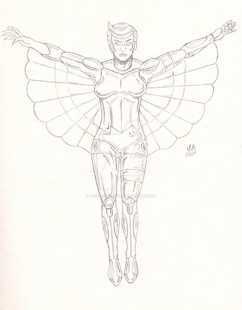 SilverHawks Steelheart Quick Sketch by JesseAllshouse