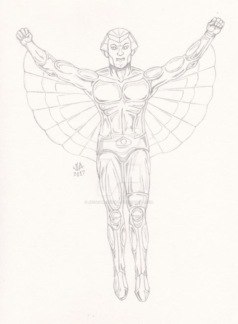 SilverHawks Quicksilver Quick Sketch by JesseAllshouse