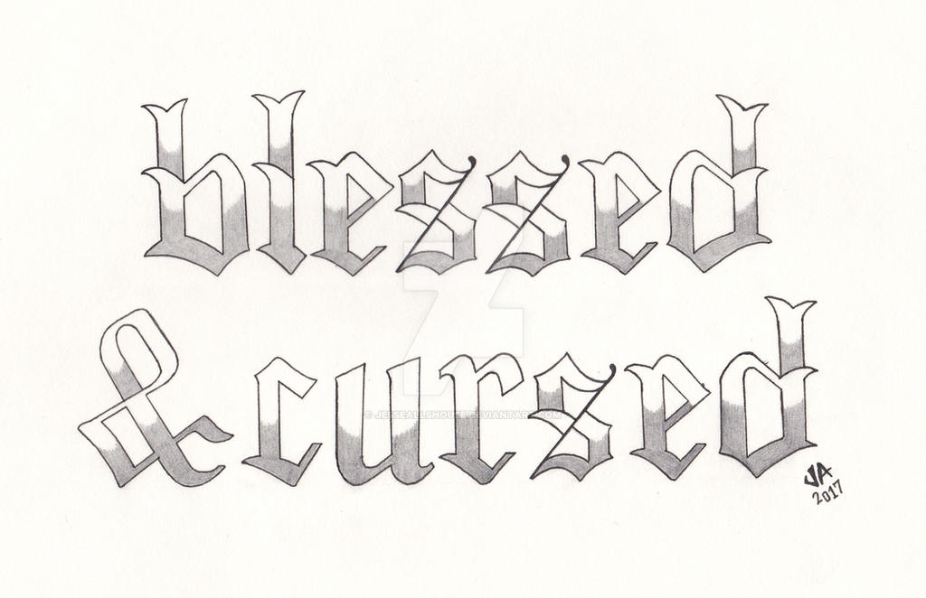 Blessed X Cursed Tattoo Design Variant By Jesseallshouse On Deviantart