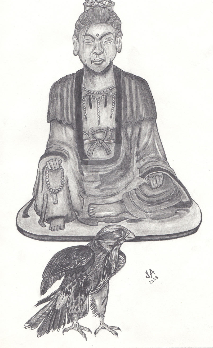 The Buddah and the Falcon Sketch
