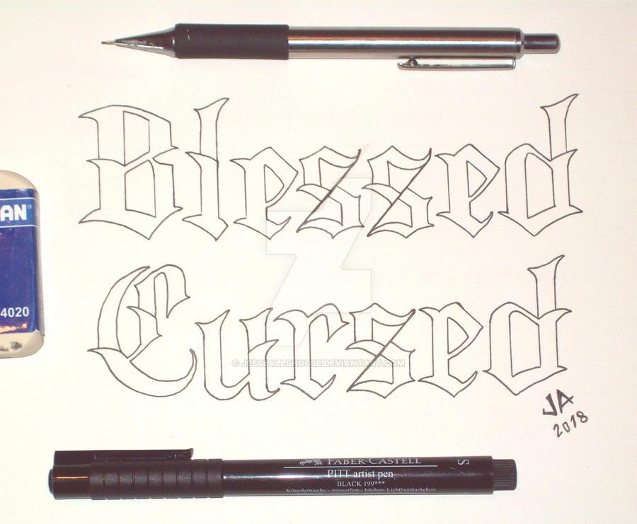 Blessed x Cursed Tattoo Design 2.0