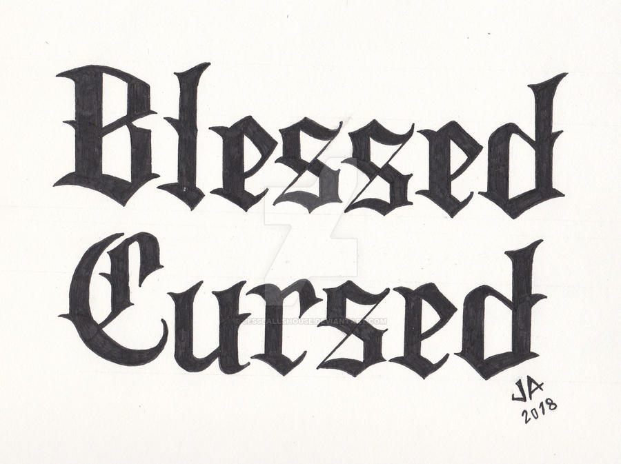 Blessed x Cursed 2.1 Tattoo Design Black Variant by JesseAllshouse