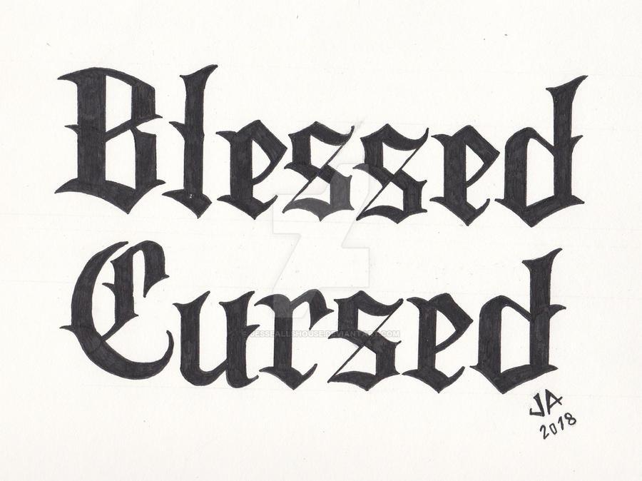 Blessed x Cursed 2.1 Tattoo Design Black Variant