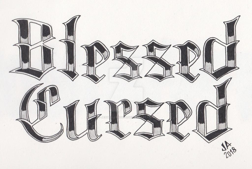 Blessed x Cursed Tattoo Design 2.2