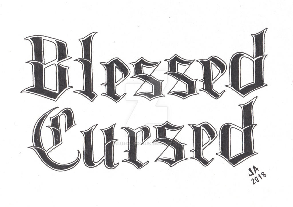 Blessed X Cursed Tattoo Design 23 By Jesseallshouse On Deviantart