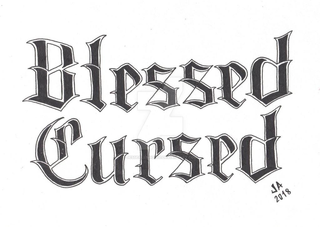 Blessed x Cursed Tattoo Design 2.3