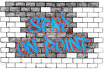 Stay On Point Graffiti Wall