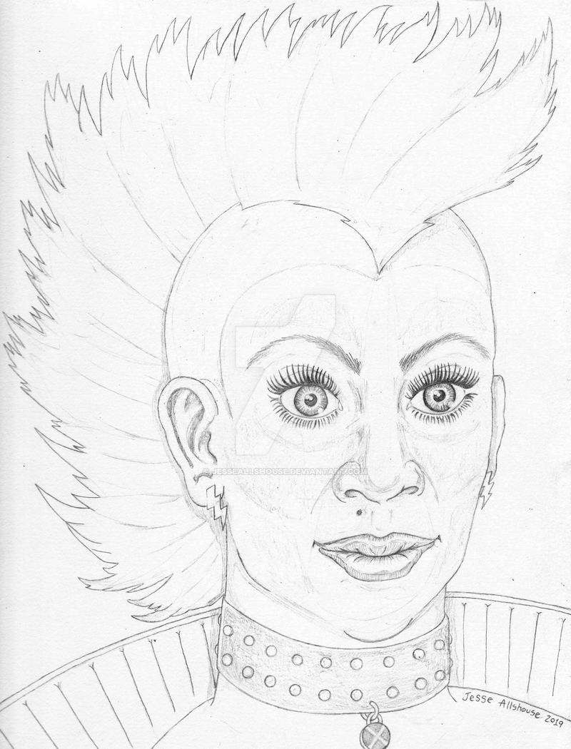 Mohawk Storm Quick Pencil Sketch