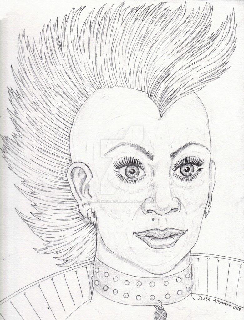 Mohawk Storm Pencil Sketch by JesseAllshouse