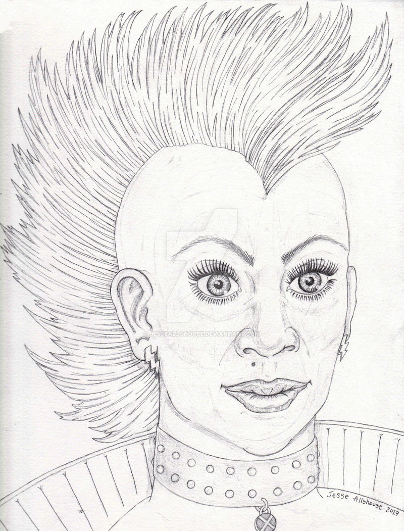 Mohawk Storm Pencil Sketch