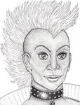 Mohawk Storm Stippling Pen and Ink