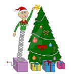 Jack-in-the-box Xmas Tree