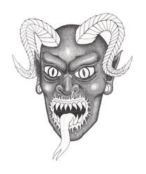 Demon Portrait Work in Progress 2.0