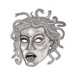 Medusa Stippling Portrait