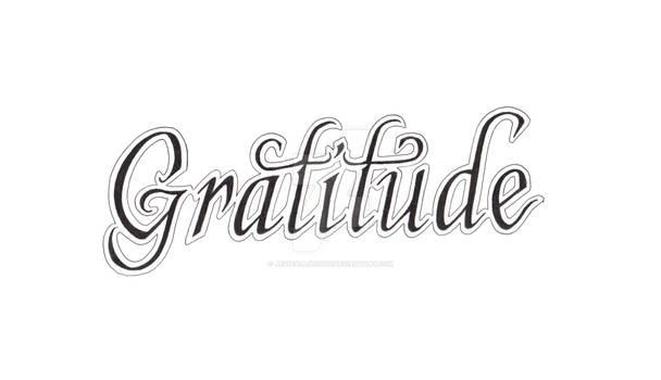 Gratitude Calligraphy Lettering
