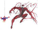 Carnage and Spider-Man