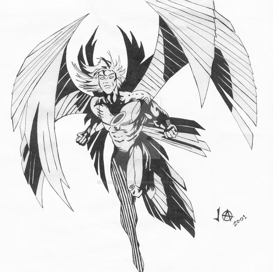 Archangel Pen and Ink by JesseAllshouse