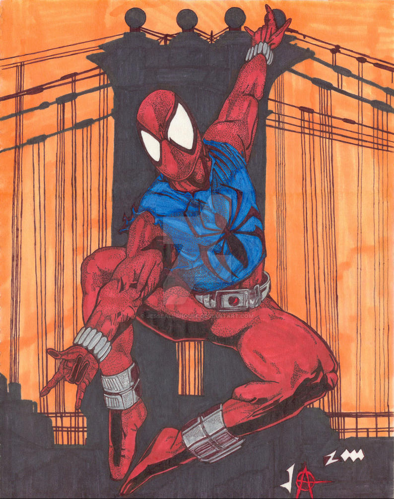 Scarlet Spider Ben Reilly by JesseAllshouse