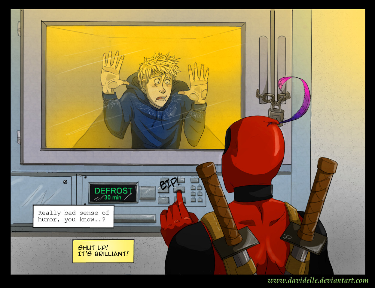 Deadpool meets Jack Frost by Davidelle