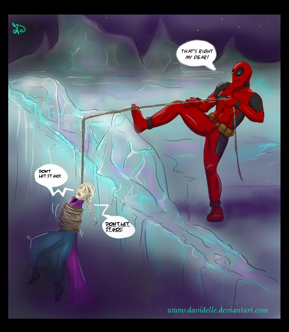 Deadpool meets Elsa by Davidelle