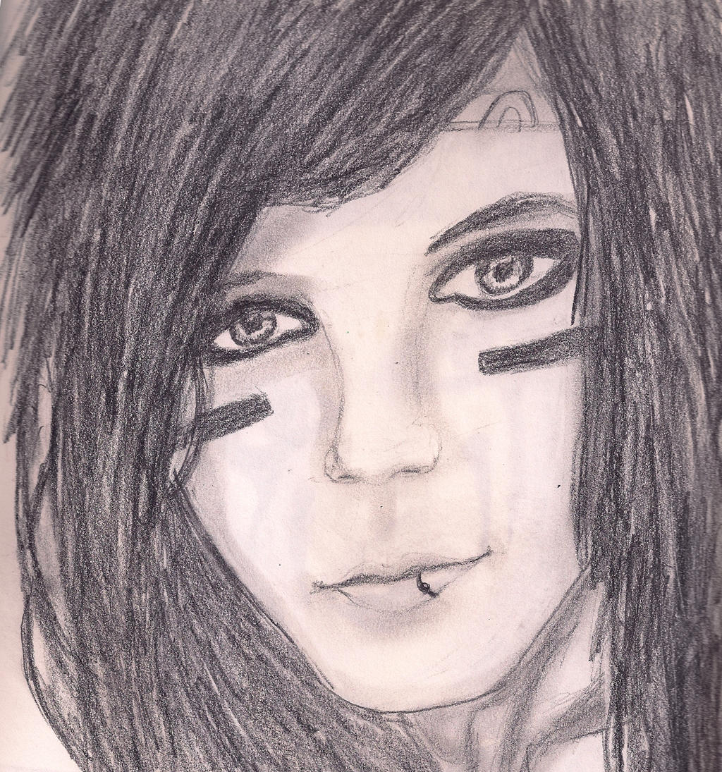 andy biersack drawing by loveroftheartsforvr traditional art drawings    Easy Andy Biersack Drawing