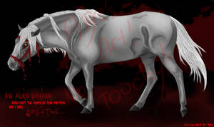 Blood Bridle Horse
