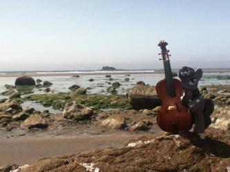 Octavia at the Beach by NintendoKenny
