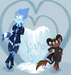 Jack Frost and Krampus Valentines