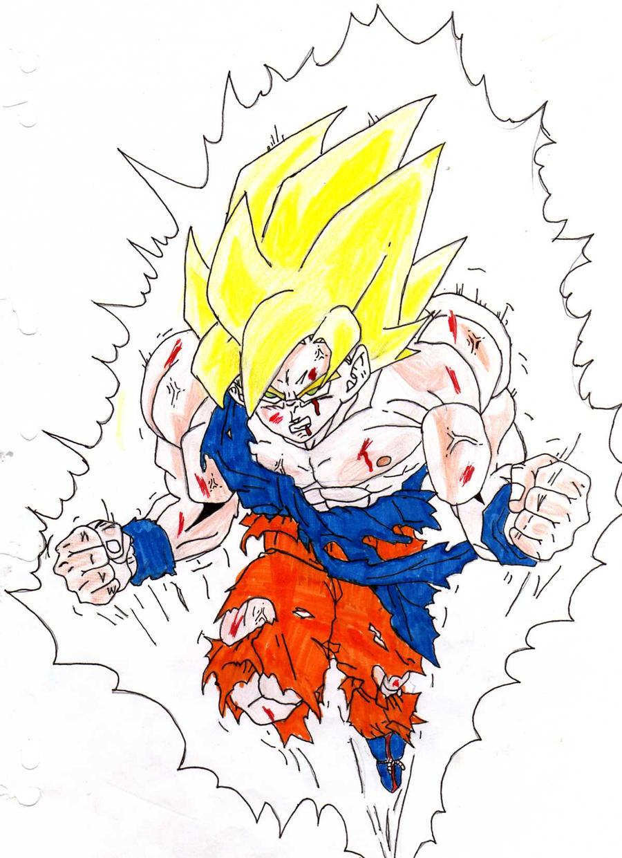 Sangoku super sayen by toshiro kageyoshi on deviantart - Sangoku super sayen 3 ...