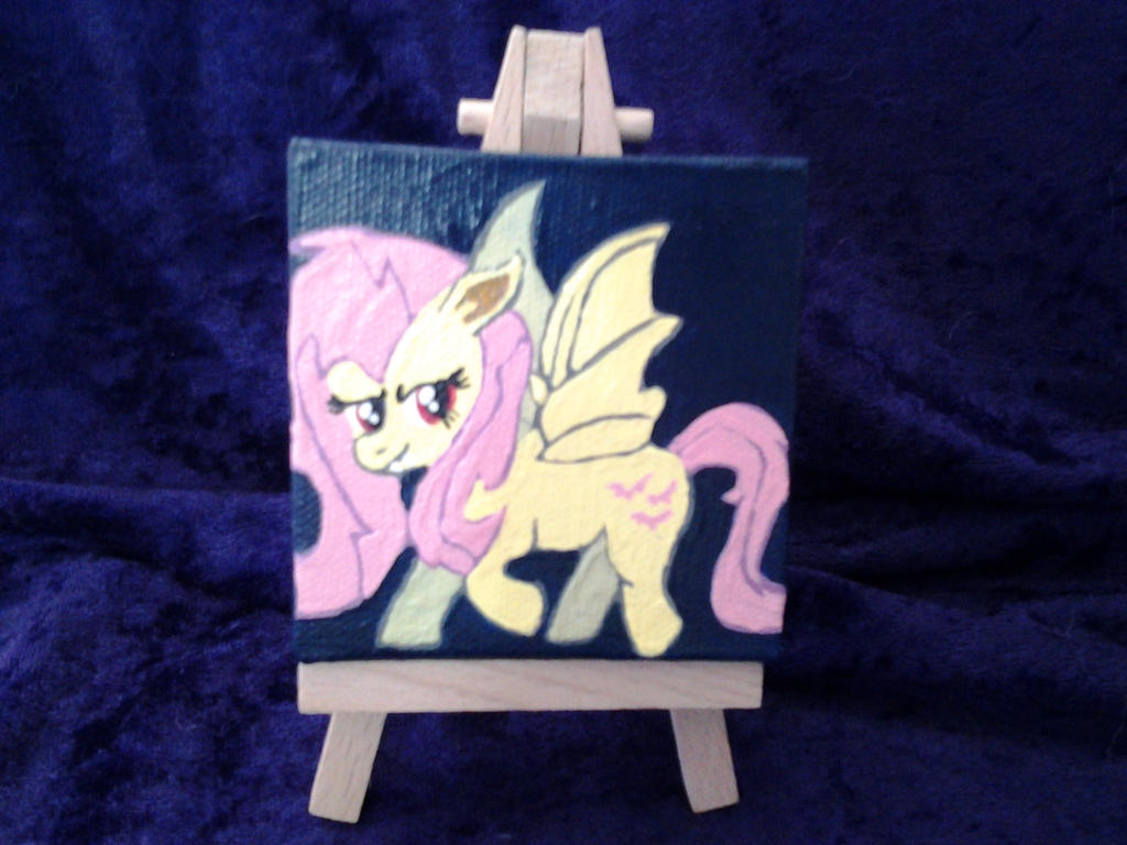 Flutterbat petite pony portrait by Nightwings-81