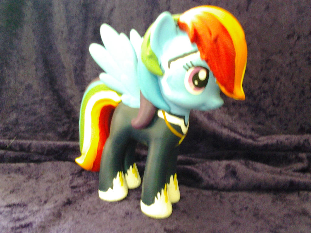Rainbow Dash as Zap Power Pony custom by Nightwings-81
