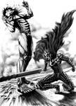 Berserk vs Attack On Titan.Guts vs Eren Yeager.