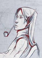 Voryn Dagoth sketch 2 by RisingMonster